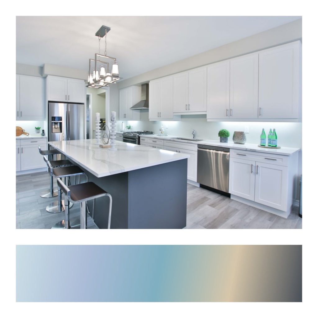 A kitchen counter Description automatically generated