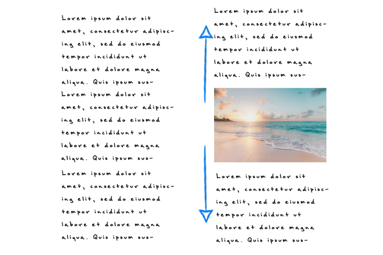 what happens if images loads and pushes content up, causing layout shift
