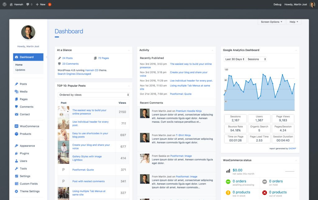 The Best WordPress Admin Themes June, 2020 - Isotropic ...