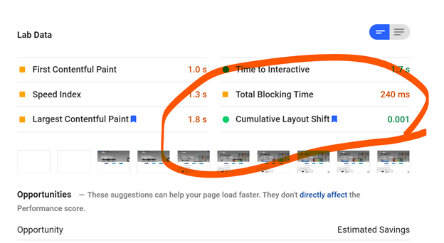 New pagespeed insights tool with Cumulative Layout Shift