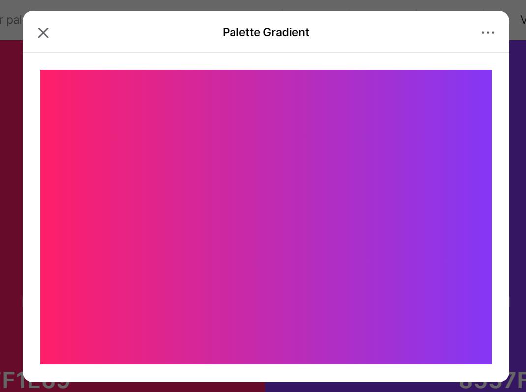 Coolors palette gradient tool
