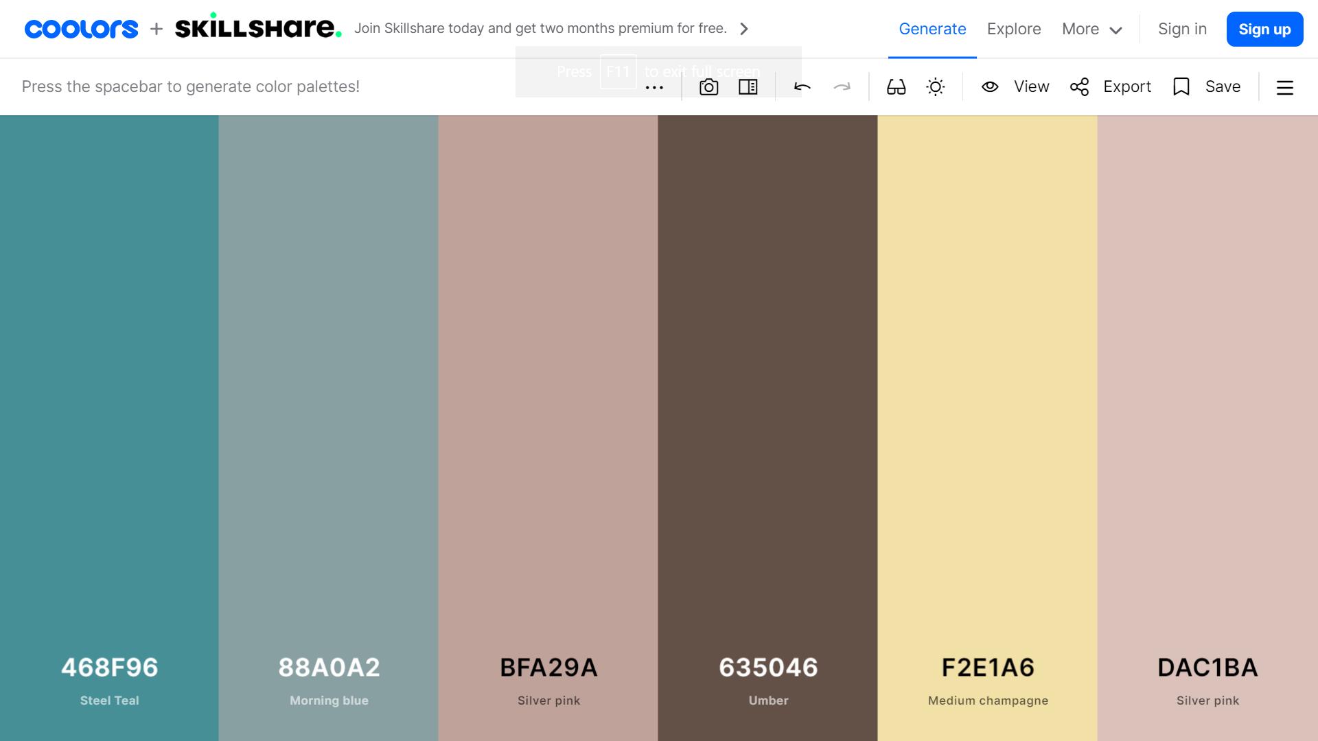 Coolors color scheme ocean