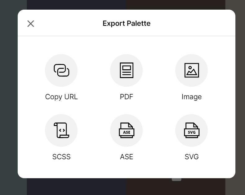 Coolors export palette