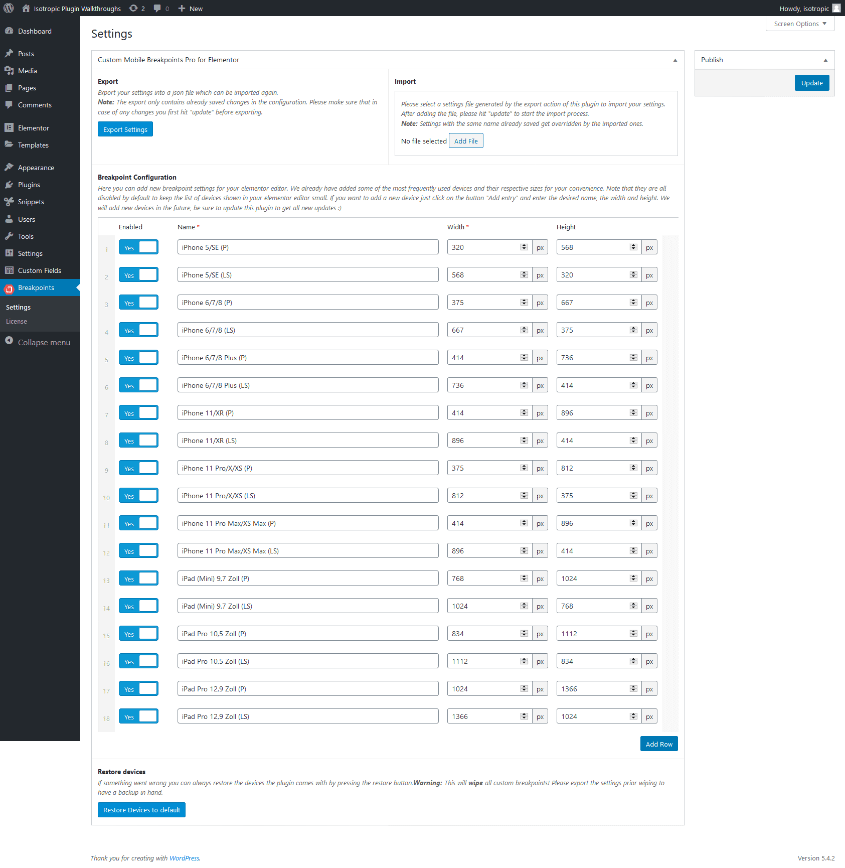 Codevision Custom Breakpoints Elementor