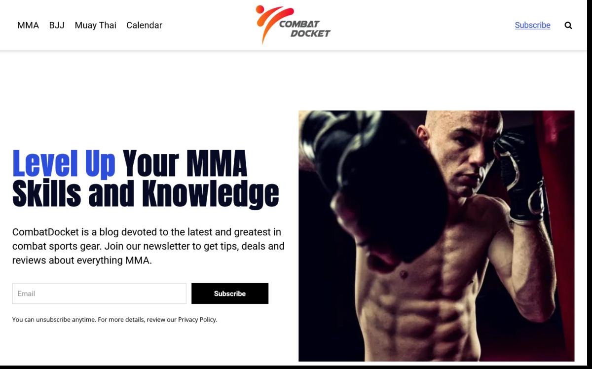 CombatDocket homepage