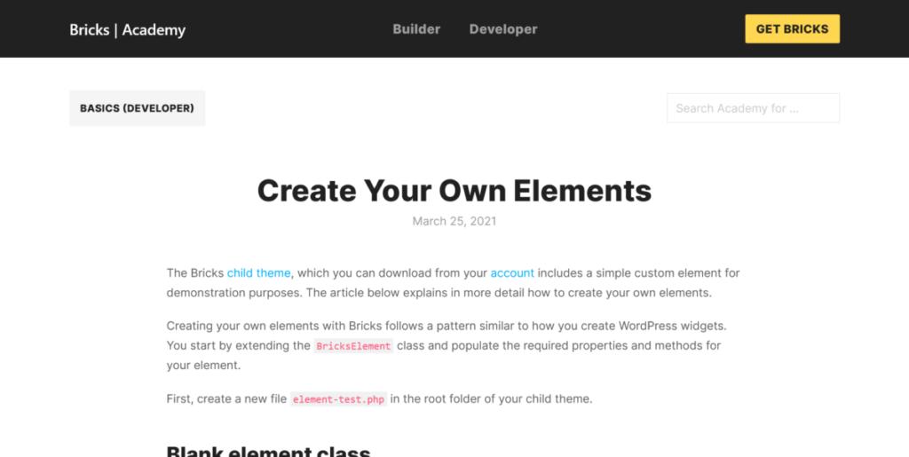 bricks builder make your own elements